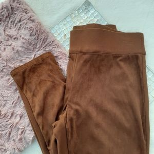 Ruby Rd. Faux Suede Stretch Legging Pants